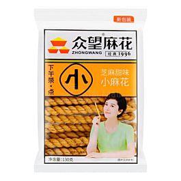 众望 小麻花 芝麻甜味 130g
