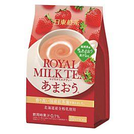 日本 日东红茶 皇家奶茶粉 草莓味 10条入 140g
