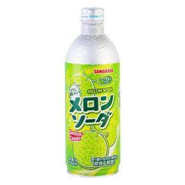 日本 SANGARIA 铝罐装碳酸波子汽水 哈密瓜味 500ml