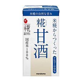 保湿抗老 日本 marukome 糀甘酒LL 无酒精风味米麴饮料 原味 125ml