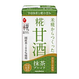 保湿抗老 日本 marukome 糀甘酒LL 无酒精风味米麴饮料 抹茶味 125ml
