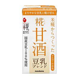 保湿抗老 日本 marukome 糀甘酒LL 无酒精风味米麴饮料 豆乳味 125ml