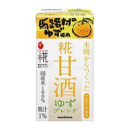 保湿抗老 日本 marukome 糀甘酒LL 无酒精风味米麴饮料 柚子味 125ml