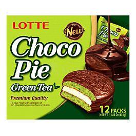 韩国 乐天 绿茶巧克力派 12枚入 336g