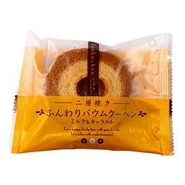 日本 TAIYO FOODS 低温烘培 年轮蛋糕 牛奶焦糖味 75g