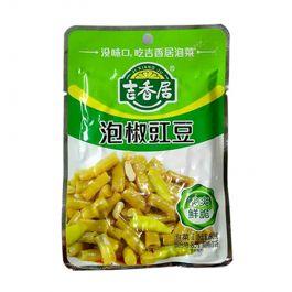保质期至 2021.08.21 2包 吉香居 泡椒豇豆 2X80g