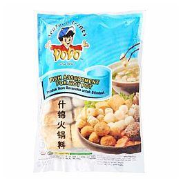 DODO 什锦火锅料 含鱼丸 竹轮 油豆腐 300g 冷冻食品 介意慎拍