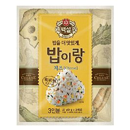保质期至2021.10.14 韩国 BEKSUL 芝士味拌饭调味料 内含3小袋 27g