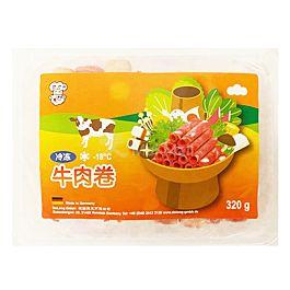 乐乐厨 牛肉卷 320g 此商品只接受DPD Express邮寄 冷冻食品 介意慎拍