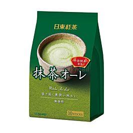 日本 日东红茶 宇治抹茶奶茶粉 10条入 120g