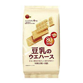 日本 BOURBON 豆乳华夫饼干 112.8g