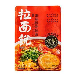 网红爆款 拉面说 浓汤番茄豚骨拉面 146.4g