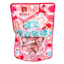 良品铺子 爆浆果心软糖 草莓味 42g
