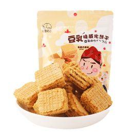 保质期至 2021.08.02 法思觅语 豆乳味 威化饼干 50g