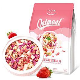 营养早餐 欧扎克 玫瑰草莓坚果麦片 400g