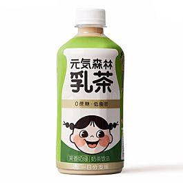 元気森林 0蔗糖低脂肪 乳茶 茉香奶绿 450ml  (2021.10.28)
