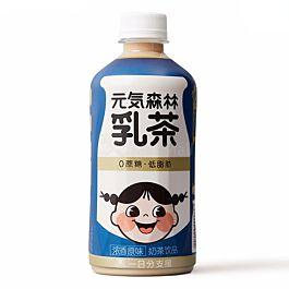 元気森林 0蔗糖低脂肪 乳茶 浓香原味 450ml  (2021.10.03)